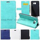 For Samsung Galaxy Note 5 N920 N9200 Case Flip Cover Wild Crocodile PU Leather
