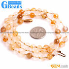 Handmade Yellow Rutilated Quartz Gemstone Necklace Fashion Jewelry Free Shiping