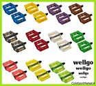 Pedals Resin Plastic WellGo for bicycle Fixed Gear/BMX/MTB - ALL COLOURS