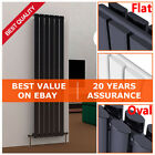 Vertical Designer Radiators Flat Oval Double Column Central Heating Tall Panel