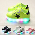 Kid Boy Girl Luminous Sneakers Kids Sneakers LED Lighted Colorful Children Shoes