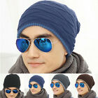 Fashion Women Men Unisex  Warm Winter Hats Fleece Lined Beanie Ski Knitted Cap