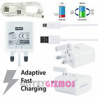 GENUINE REAL SAMSUNG GALAXY ADAPTIVE FAST QUICK RAPID CHARGER & MICRO USB CABLE