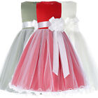 Tulle Netting Flower Girl Princess Bridesmaid Wedding Pageant Birthday Dresses