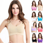 Womens Seamless Smart Bra Bustier Bralette Crop Tank Tops Removable Pads