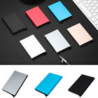 Aluminum Slim ID Credit Business Cards RFID Protector Holder Purse Wallet Secure