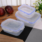3X Plastic Large-capacity Crisper Food Storage Box Container Set Microwave