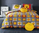New Smiley Face Emoji Duvet Quilt Cover Bedding Set With Pillowcases, Curtains