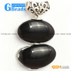 13x22mm Double Oval Tibetan Silver Pendant With Neckace Chain Free Shipping
