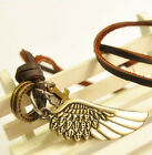 NEW Infinity   Jewelry Vintage Angel Wing Leather Necklace Charms Pendant