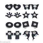 HOT Stylish Unisex Mens Womens Crystal Black Clip On Magnetic Earrings Stud