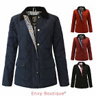 NEW WOMENS LADIES QUILTED PADDED BUTTON ZIP JACKET COAT PLUS SIZES 16 18 20
