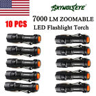 10x 7000LM CREE XM-L Q5 AA/14500 3 Modes ZOOM Tactical LED Flashlight Torch Lamp