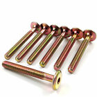 Brass,  gold colour bed bolts,  m6 size,  suits bed,  furniture,  cots,  various sizes