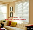 "2"" FAUXWOOD WINDOW BLINDS ~SIZE~ 33"" WIDTH x 37"" to 48"" LENGTH ~ WHITE COLORS"