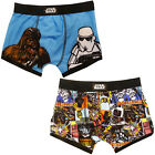 Official Licensed Childs Disney Star Wars Pack Of 2 Kids Colourful Boxers