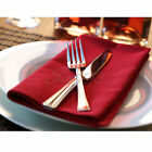 "Cotton Linen Napkins 12"" Handkerchief  Cloth Wedding Banquet Kitchen Table Decor"