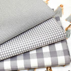 KENT 3 FRENCH GREY GINGHAM 3 size checks BY THE METRE dressmaking fashion craft