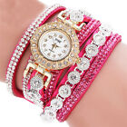 Fashion Women's Stainless Steel Bling Rhinestone Bracelet Wrist Watch Hot Gift