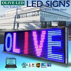 "OLIVE LED Sign 3Color RBP 12""x31"" PC Programmable Scroll. Message Display EMC"