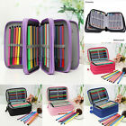 Various Zipper Pencil Case Stationery Cosmetic Make Up Bag Pen Storage Pouch Hot
