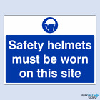 Safety Helmets Must Be Worn Sign (large)