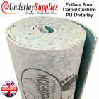 Ezifloor 8mm Thick Carpet Cushion PU Underlay Order per m2 UK Manufactured Brand