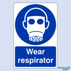 Wear Respirator Safety Sign