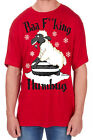 Adults Novelty Baa Print T-Shirt Christmas Explicit Festive Funny Rude Top