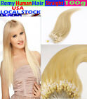I-Tip Blonde #613 Hair Weave Extensions Loop Micro Ring 100 % 7A Remy Hair 100g
