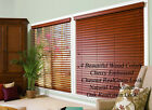 "2"" FAUXWOOD BLINDS 31"" WIDE x 61"" to 72"" LENGTHS - 4 GREAT WOOD COLORS!"