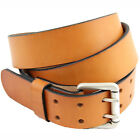 American Made 1 1/2 London Tan Bridle Leather Belt Double Hole