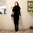 Women Sweater Dress Long Sleeve T-shirt Dress Knitting Cotton Sweater Dresses