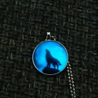 Glow In Dark Animal Wolf Steampunk Luminous Time Glass Pendant Glowing Necklace