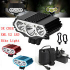 12000LM 3 x CREE XM-L T6 LED Mountain Bike Light  Bicycle Cycle Torch Headlamp