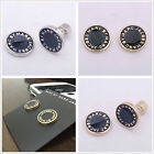 New FASHION MARC BY MARC JACOBS 6 COLORS LETTERS DISC STUD EARRINGS #E001X