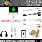 2in1 3.5mm Headphone Jack Adapter Audio Charger Charging Cable iPhone 7 7Plus