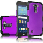 For LG K7 / Tribute 5 Case Shockproof Hybrid Slim Rugged Hard Rubber Armor Cover