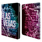 HEAD CASE DESIGNS CITY LIGHTS LEATHER BOOK WALLET CASE COVER FOR APPLE iPAD AIR