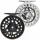Fly Reel 1/2/3/4/5/6/7/8 WT Large Arbor Silver/Black Aluminum Fly Fishing Reel