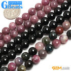 Natural Tourmaline Gemstone Round Beads For Jewelry Making Free Shipping 15""