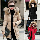 NEW Thicken Women Long Winter Coat Hood Parka Overcoat Jacket Outwear