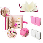 Book Style PU Leather Jewelry Earring Ear Studs Case Storage Holder Organiser