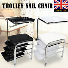 New 2in1 Stool Trolley Mobile Nail Pedicure Manicure Chair Station salon beauty