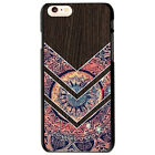 Hipster Mandala and Wood Printing Protector Case Cover For iphone 6 6s 7 Plus