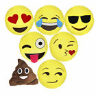 Emoji Emoticon Yellow Round Cushion Stuffed Pillow Plush Soft Toys Decor