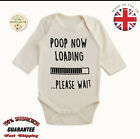 Organic Cotton Funny Poop Loading Baby Toddler Vest Long Sleeve Body Suits Grow