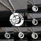 Ladies Silver Necklace Mum Sister Relation Love Heart Gift Jewellery Set Rn10