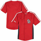 Stitches St. Louis Cardinals Youth Red Chin Music Fashion Button Jersey - MLB