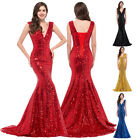 New Womens Bridesmaid Sequin Dress Prom Ladies Long Party Evening Cocktail Maxi